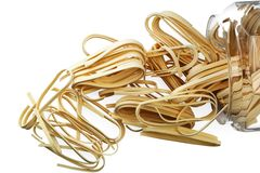 Noodles, dried pasta. Stock Photo