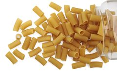 Noodles, dried pasta. Royalty Free Stock Images
