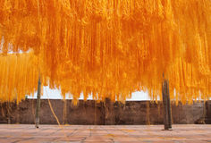 Noodles Drying Royalty Free Stock Photography
