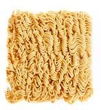 Noodles of fast preparation. Isolated on white Stock Image