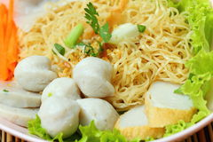 Noodles with fish ball Royalty Free Stock Photography