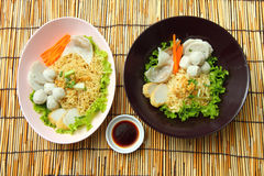 Noodles with fish ball Stock Photo