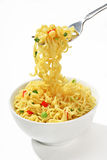Noodles on a fork Stock Photography