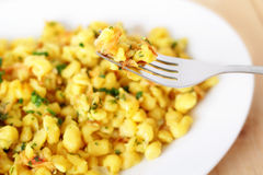 Noodles with grated cheese Royalty Free Stock Photography