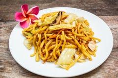 Noodles Japanese Yakisoba, vegetarian food. Royalty Free Stock Photo