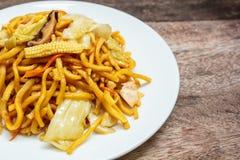 Noodles Japanese Yakisoba, vegetarian food. Stock Photography