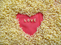 Noodles and love Royalty Free Stock Images