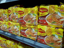 noodles maggi instant curry Royalty Free Stock Images