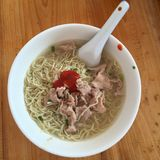 Noodles with meat Royalty Free Stock Photos