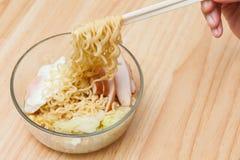 noodles natychmiastowi Fotografia Stock