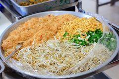 Noodles pad Thai Stock Photography