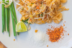 Noodles pad Thai Royalty Free Stock Photo