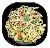 Noodles pesto Stock Photo