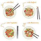 Noodles on plate. Stock Photography
