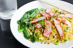 Noodles Pork. Stock Image