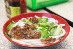 Noodles with pork Stock Images
