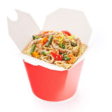 Noodles with pork and vegetables Stock Photography