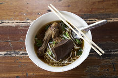 Noodles with pot-stewed duck Royalty Free Stock Photo