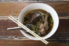 Noodles with pot-stewed duck Stock Photos