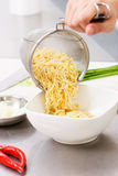 The noodles are ready Royalty Free Stock Photo