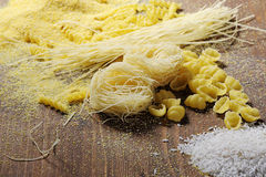 Noodles, rice and polenta Royalty Free Stock Photo