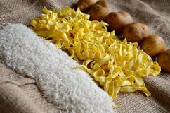 Noodles, Rice, Potatoes, Food, Eat Royalty Free Stock Photography
