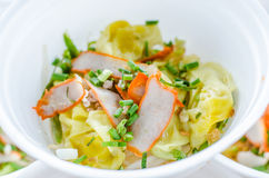 Noodles with roast red pork Royalty Free Stock Photo