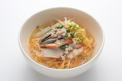 Noodles with roast red pork Royalty Free Stock Images