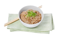 Noodles with Scallions Stock Image