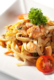 Noodles with Seafood Royalty Free Stock Photography