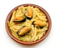 Noodles with seafood stew Royalty Free Stock Photos