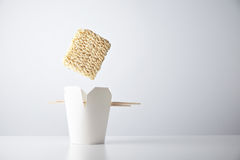 Noodles simple takeaway retail set Stock Photography