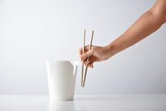 Noodles simple takeaway retail set Stock Photo