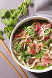 Noodles soup with beef Royalty Free Stock Photography