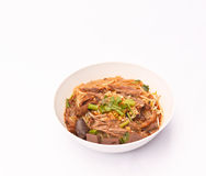 Noodles soup with duck. Royalty Free Stock Image