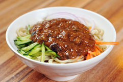 Noodles with soy bean paste Stock Images