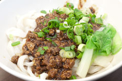 Noodles with soybean paste Royalty Free Stock Image