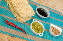 Noodles and spices Stock Photo