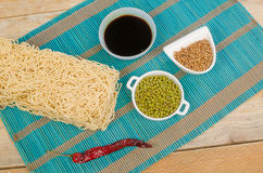 Noodles and spices Royalty Free Stock Images
