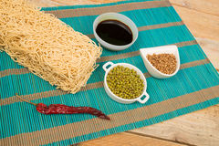 Noodles and spices Royalty Free Stock Image
