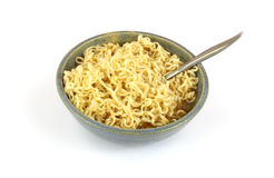 Noodles with spoon Stock Photo