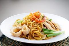Noodles. stir-fried noodles Stock Photos