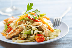 Noodles stirfry royalty free stock images
