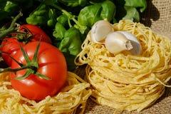 Noodles, Tagliatelle, Pasta, Raw Stock Image