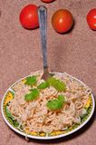 Noodles and tomato Royalty Free Stock Photos