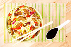 Noodles. Top view. Royalty Free Stock Photography
