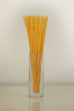 Noodles in vase. Just dry pasta in vase: noodles (bucatinnis Royalty Free Stock Image