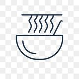 Noodles vector icon isolated on transparent background, linear N vector illustration