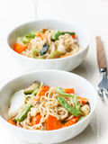 Noodles with vegetable Royalty Free Stock Images