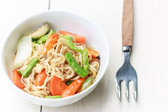 Noodles with vegetable Royalty Free Stock Photos